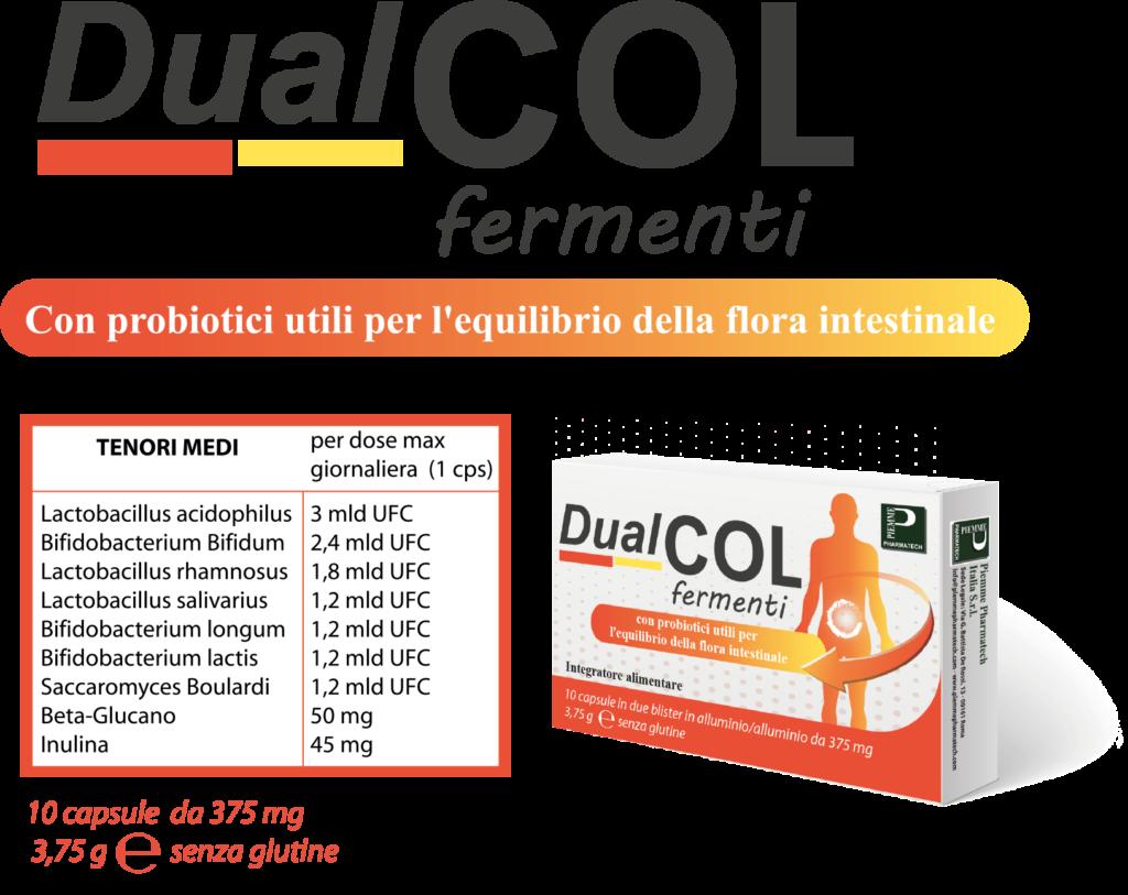 Dualcol Fermenti indicato per l'equilibrio della flora intestinale