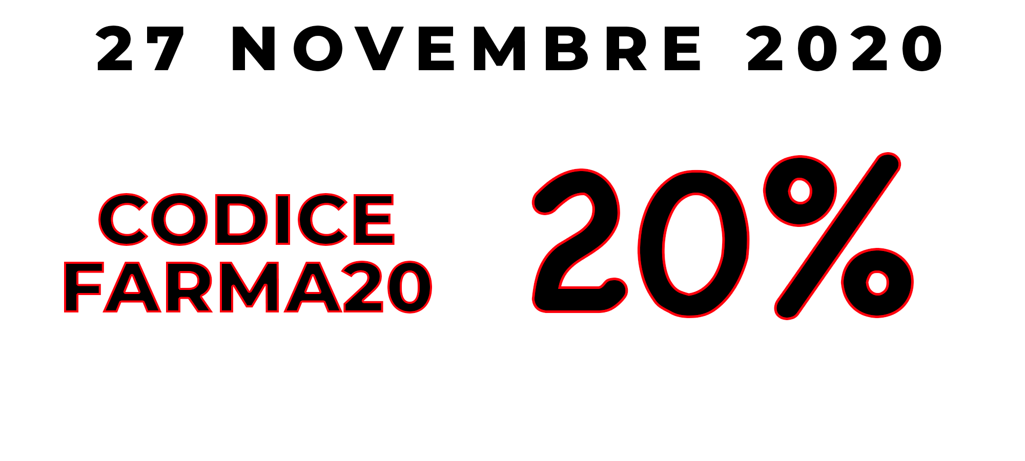 CODICE SCONTO BLACK FRIDAY FARMA DEL 27 NOVEMBRE