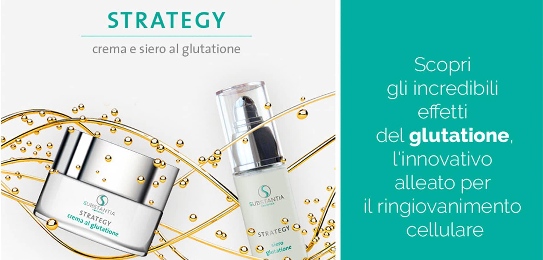 Strategy, crema al glutatione